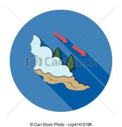 Avalanche clipart cartoon blue