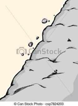 Avalanche clipart falling rock