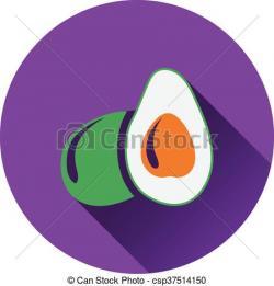 Avocado clipart violet