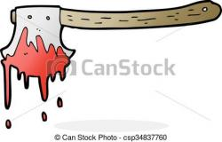 Axe clipart bloody