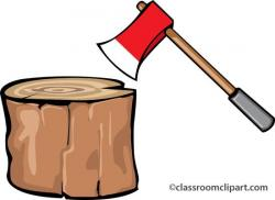 Axe clipart chopping wood
