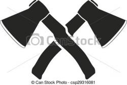 Axe clipart crossed
