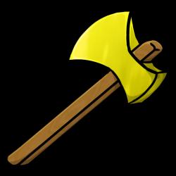 Axe clipart gold