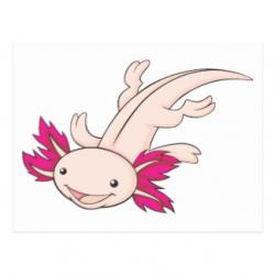Axolotl clipart happy