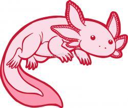 Axolotl clipart kawaii