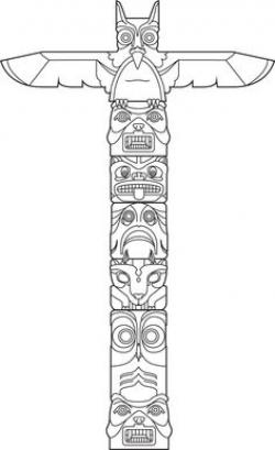 Drawn totem pole easy