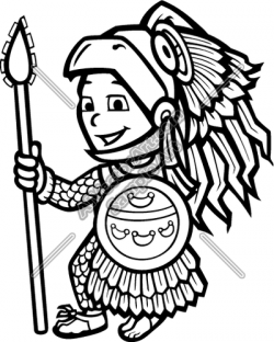 Aztec Warrior clipart