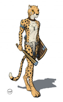 Aztec Warrior clipart cheetah