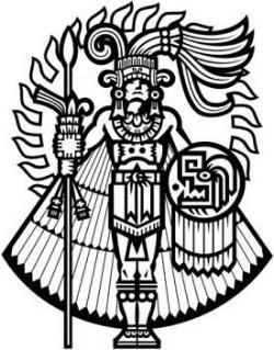 Aztec Warrior clipart symbol