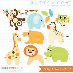 Safari clipart baby boy