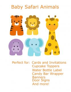 Safari clipart baby shower safari