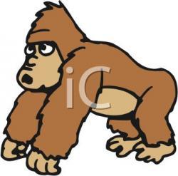 Orangutan clipart sad