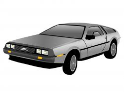 Delorean clipart Back to The Future
