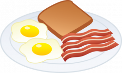 Breakfast clipart eggs and bacon