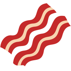 Drawn bacon