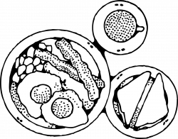Breakfast clipart black and white