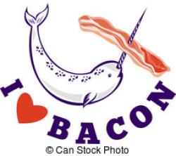 Bacon clipart i love