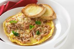 Omelette clipart bacon