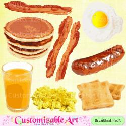 Breakfast clipart digital