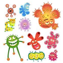 Bacteria clipart comic