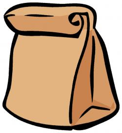 Paper clipart brown bag