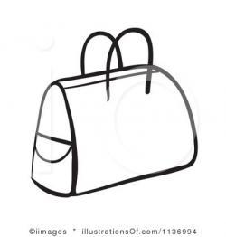 Purse clipart black suitcase