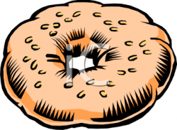 Grains clipart bagel