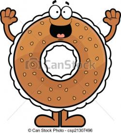 Bagel clipart happy