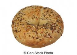 Bagel clipart multigrain