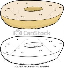 Bagel clipart plain