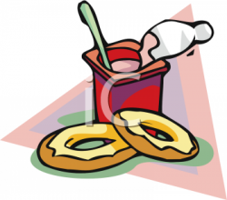 Yogurt clipart bagel