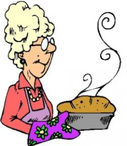 Women clipart baking bread