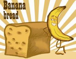 Baking clipart banana bread