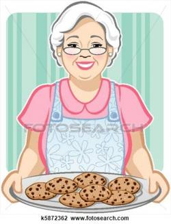 Baking clipart grandma baking