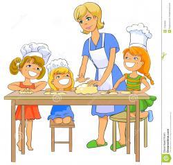 Baking clipart mom
