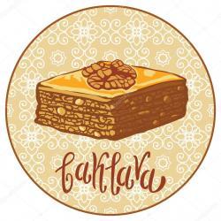 Baklava clipart sweet