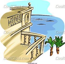 Castle clipart balcony