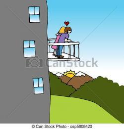 Balcony clipart cartoon