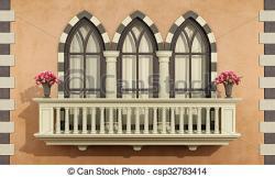 Balcony clipart classic