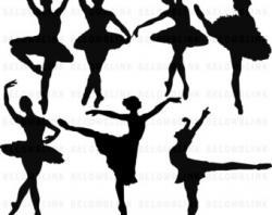 Ballerina clipart poses