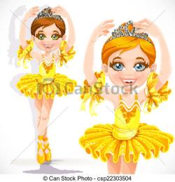 Yellow Dress clipart