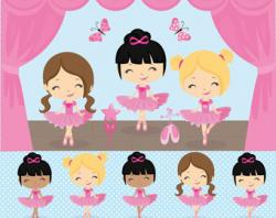 Digital clipart ballerina