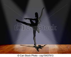 Ballet clipart on stage