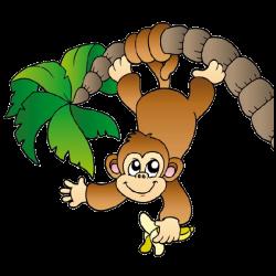 Jungle clipart cheeky monkey