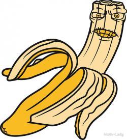Banana clipart bitten