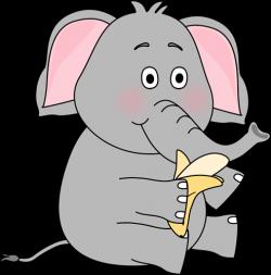 Banana clipart elephant
