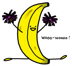 Banana Split clipart hooray