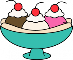 Banana Split clipart ice cream sundae bar