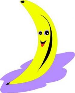 Banana clipart smiling banana