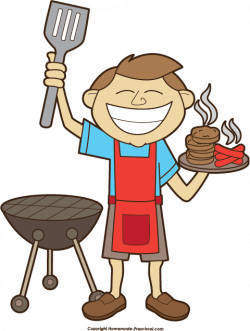 Men clipart bbq